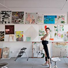 Artist Sabine Steinmair in her manhattan apartment.