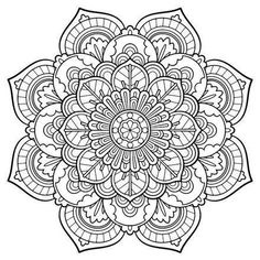 Over 90 free coloring pages of mandalas! … | coloring pages | Pinte…