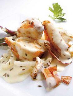 Fricassée de Langouste à la sauce citronnée - Pescanova
