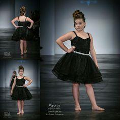Loren Franco Designs Spring/Summer 2016 - tween girl black organza dress