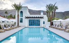 Design Destination: La Serena Villas, An Oasis in Palm Springs Palm Springs California, California Homes, Desert Days, Spa Colors, Built In Seating, Back Patio, Hotel Spa, Spanish Colonial, Beautiful Places