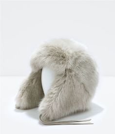 Image 1 of FUR HAT WITH EARS from Zara