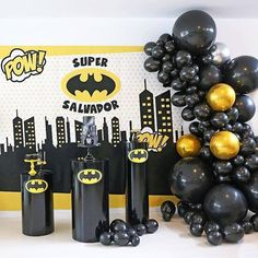 💥 modern Batman Birthday Party styled by Babka. Stay tuned, this party decor is going to blow you away! Batman Birthday, Boy Birthday, Birthday Wishes, Cake Birthday, Batman Party Decorations, Birthday Party Decorations, Diy Birthday Banner, 4th Birthday Parties, Lego Parties