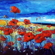 Pretty flowers painting by Jean Feeney.