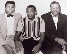 Muhammad Ali, Sugar Ray Robinson, Joe Louis