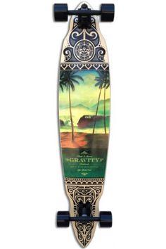 Gravity Tres Palmas Pintail Complete Longboard Skateboard