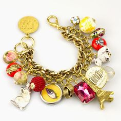 This fun & colorful bracelet is a nod to the magic of shopping at a Paris Flea Market and all of the 'kitsch' you can find there!