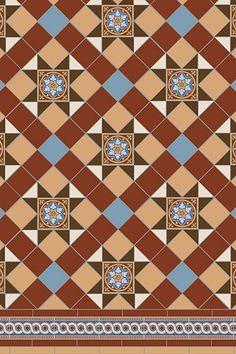 Blenheim 5 colour Tile Pattern