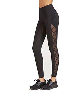 ecaf89e821c11 SweatyRocks Women's Mesh Panel Side High Waist Skinny Workout Leggings