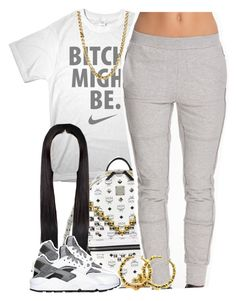 """""""Untitled #1393"""" by lulu-foreva ❤ liked on Polyvore featuring MCM, SELECTED, NIKE and Lauren Ralph Lauren"""