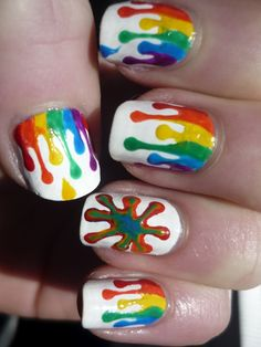 Amazing Rainbow Nail Art