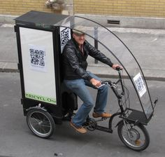 Is it s young Michel? Tricycle Bike, Adult Tricycle, Electric Cargo Bike, Bike Cart, Velo Cargo, Bike Food, Recumbent Bicycle, Pedal Cars, Bike Frame