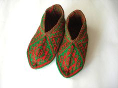 red and green Turkish traditional Handmade by AnatoliaDreams