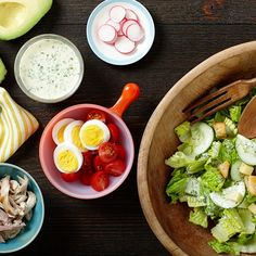Summer Chef's Salad with Grilled Pork, Chicken, and Chimichurri Ranch Dressing