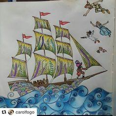 ⛵by @carolfogo ・・・ Ehhh vamos que vamos.... Agora só fds que vem!!!! Bora pensar no fundo!!!! #livrocoloriramo #colorindolivrostop #terapianojardim #jardimsecretoinspire #jardimsecretomeiaboca #lostoceancolors #desafioscoloridos #boracolorirtop #johannabasford #jardimsecreto #forumdacriatividade #divasdasartes #oceanoperdidotop #florestaencantada2 #coloring_secrets #prazeremcolorir #nossojardimcolorido #jardimsecreto #secretgarden #ofeitiçodotempo #dariasong #thetimegardencoloringbook #the