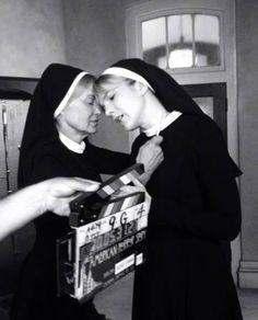 Jessica Lange & Lily Rabe AHS 2 ASYLUM