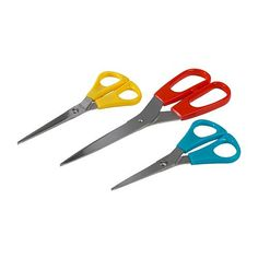 Ikea scissors 3/$1.99  I got multiple sets to stash all over the house so I'd never be stuck without scissors nearby!