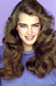 Brooke Shields Young, 1970s Hairstyles, 80's Womens Hairstyles, Hairstyles Haircuts, 80s Haircuts, Amazing Hairstyles, Bride Hairstyles, Straight Hairstyles, 1980s Hair