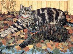 Art by Mimi Vang Olsen. #cats #art #cute