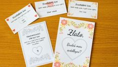 Jak si vytvořit stírací los - Svatební šílenství Place Cards, Place Card Holders, Wedding, Valentines Day Weddings, Weddings, Marriage, Chartreuse Wedding