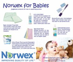 Worried about exposing your baby to harmful chemicals? Norwex has so many products for babies!