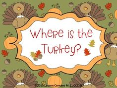 This+Thanksgiving+themed+activity+targets+prepositions,+where+questions,+and+sentence+formulation+for+preschool+aged+children.++The+following+prepositions+are+included:+on,+next+to,+in+front+of,+behind,+and+between.++++Pages+1-5:+One+page+for+each+of+the+prepositions+listed+abovePage+6:+Preposition+Picture+Cards+Page+7:+Picture+Cards++