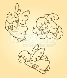 Cute Angels Set 2 royalty-free stock vector art