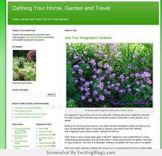 Gardening Blogs, Verbena, Travel Tips, Plants, Planets