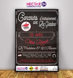 Affiche pour un concours d'Equitation pour l'AREW Limousin.