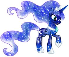 Galaxy Rainbow Power Luna by DigiTeku.deviantart.com on @deviantART