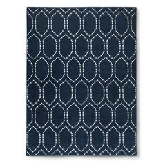 Threshold™ Dot Tile Rug.  Navy blue or deep gray.  5x7 $72     7x10 $143