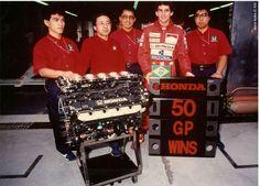 Ayrton Senna and the Honda team