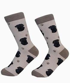Pet Lovers Dog Breed Socks - Over 45 Breeds! Black Labradoodle, Black Cocker Spaniel, Black Doberman, Body Sock, Pug Breed, Black Pug Puppies, Tube Socks, Black Socks, Novelty Socks