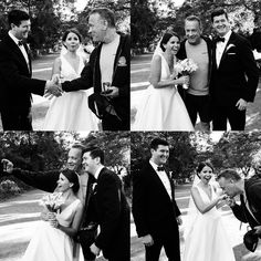 Lucky newlyweds Elizabeth and Ryan, who chose not to disclose their last names, were taking wedding photos in Central Park on Sept. 24 when Forrest Gump himself strolled over and made the best day of their lives even better. | The Luckiest Couple Ever Got Photobombed By Tom Hanks At Their Wedding