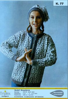 Skogstjerne 77 Fair Isle Knitting, Knitting Yarn, Norwegian Knitting, Knitting Machine Patterns, Colour Combinations, Scandinavian, Crafting, Embroidery, Crochet