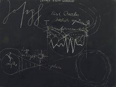 "Schultafel Joseph Beuys (German, 1921-1986) 1974. Chalk on painted board, 37 1/4 x 48 3/4"" (94.2 x 123.8 cm)"