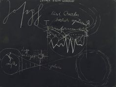 "Schultafel Joseph Beuys (German, 1921-1986) 1974. Chalk on painted board, 37 1/4 x 48 3/4"" (94.2 x 123.8 cm)"