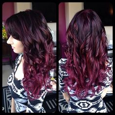 This is what my hair looks like b ut reversed its darker in the bottom