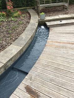 Curved and Stepped Water Rills