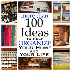 Some great ideas in here for organizing