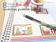 Create your own washi tape gratitude journal