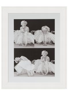 Perfect image of Hollywood Glamour! Marilyn Monroe Quad picture with Swarovski Crystals... the perfect finishing touch to your girly decor!