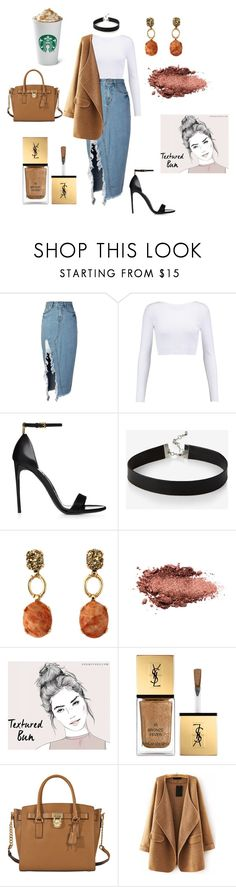 """outting"" by kara-lee-x on Polyvore featuring storets, Cushnie Et Ochs, Express, Yves Saint Laurent, MICHAEL Michael Kors and WithChic"
