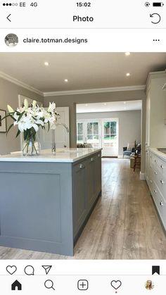 Open Plan, Country Kitchen, Nice, Kitchen Inspiration, Kitchen Ideas, Interior, Home Decor, Decoration Home, Room Decor