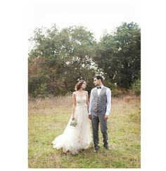wedding picture in nature, natural, romantic, vintage