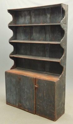 18th c. Stepback Cupboard .~<3~.