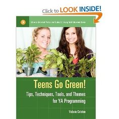 """""""Teens Go Green!: Tips, Technique, Tools and Themes for YA Programming"""" is an approachable reference book for librarians or high school teachers looking for low-cost, environmentally themed art projects and programs that teens will relate to and find fun. July 2013"""