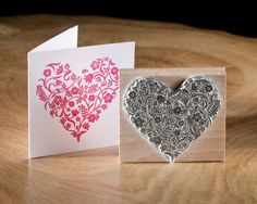 Flowery Heart Stamp. £16.00, via Etsy.