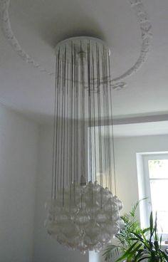 XXL Tulipan KALMAR chandelier glass balls - Austria - 60s 70s   eBay