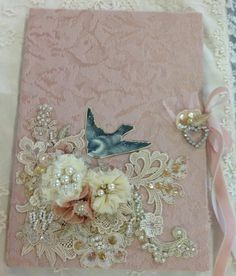 Beautiful journal cover from Linen and Lace